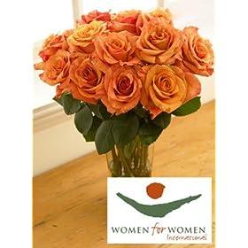 Women for Women Orange Roses