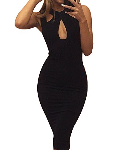 Allegrace-Women-Summer-Sexy-Front-Cross-Cut-Bodycon-Stretch-Bandage-Party-Club-Dress
