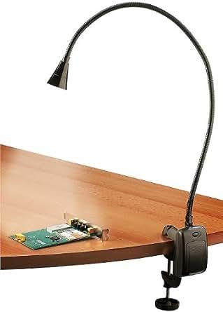 Lampada da tavolo scrivania a led flessibile nera for Lampade lunghe a led