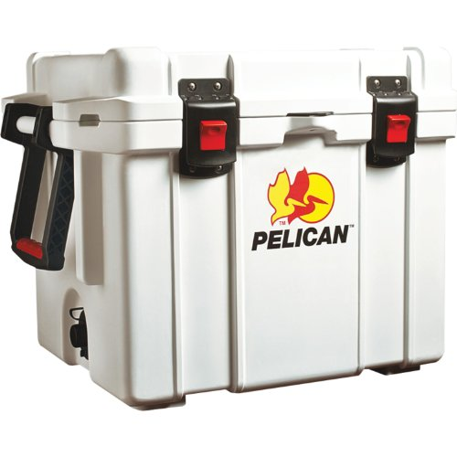 Pelican Progear Elite Marine Deluxe Cooler With 2-Inch Insulation, White, 65-Quart