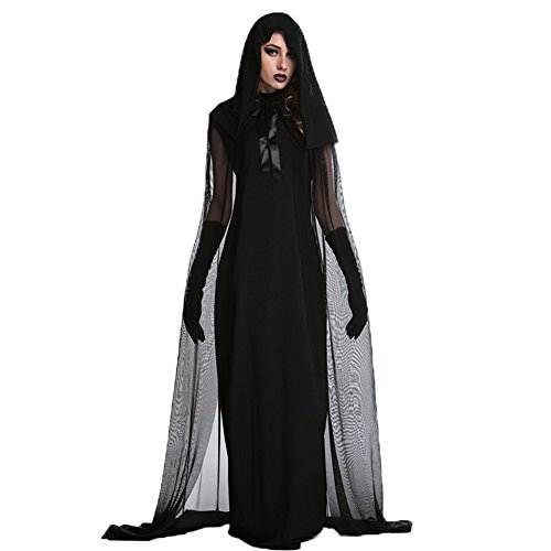 Costour Damen Kostüm für Karneval Halloween Zombie Braut Halloween Vampir Kostüm Dress Set