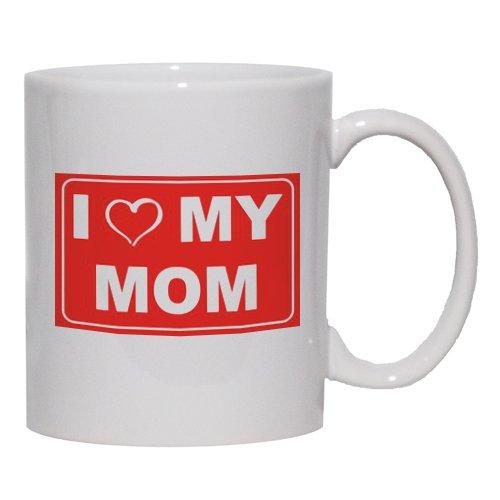 I Love My Mom Mug For Coffee / Hot Beverage 11 Oz. Black
