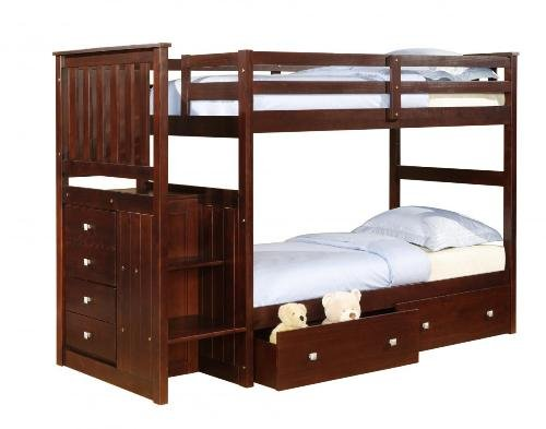 Bunk Beds With Stairs 3512 front