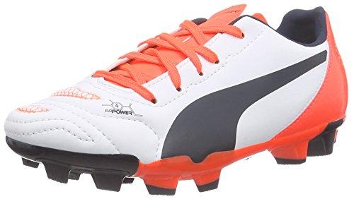 Puma - Evopower 4.2 Fg Jr, Scarpe Da Calcio infantile, bianco (white-total eclipse-lava blast 05), 36