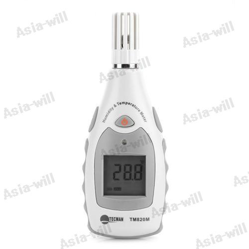 Mini Lcd Digital Multimeter Digital Thermometer Temperature Meter & Hygrometer Humidity Meter - White + Grey