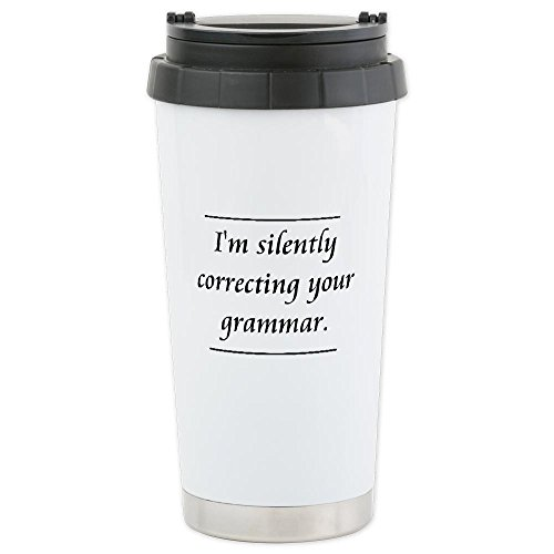 Cafepress I'M Silently Correcting Your Grammar Travel Mug Ceramic Travel Mug -