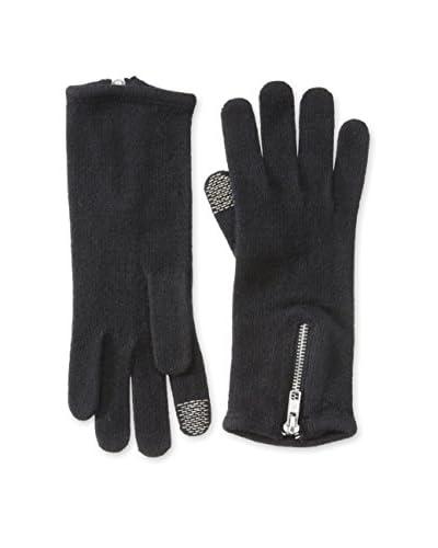 open sesame Women's Glove with Zipper, Black