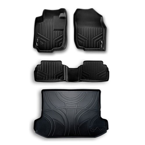 and Cargo Liner Bundle Sienna 8 Seats Black All Weather Floor Mats Set 3 Rows
