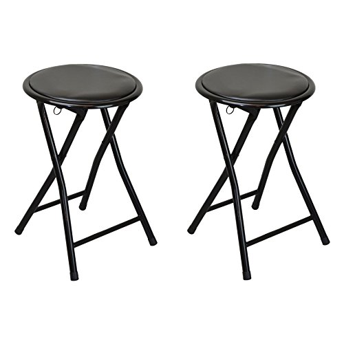 harbour-housewares-round-compact-folding-stool-black-pack-of-2