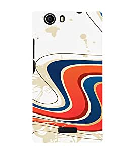 PrintVisa Colorful Wave Design 3D Hard Polycarbonate Designer Back Case Cover for Micromax Canvas Nitro 2 E311