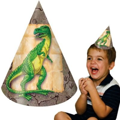 Dinosaur Hat Child - 8/pkg.
