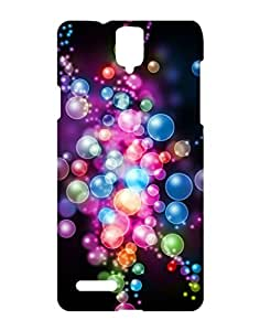 Crackndeal Hard Plastic Water Resistant Multicolored Compatible with InFocus M330 Content: 1 Back Cover