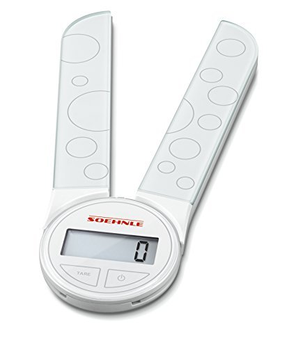 Soehnle 66226 Digital Kitchen Scales, Genio, White by Soehnle