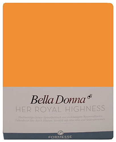Bella Donna Jersey Spannbettlaken 180/200 - 200/220 cm - 0702 (Orange)