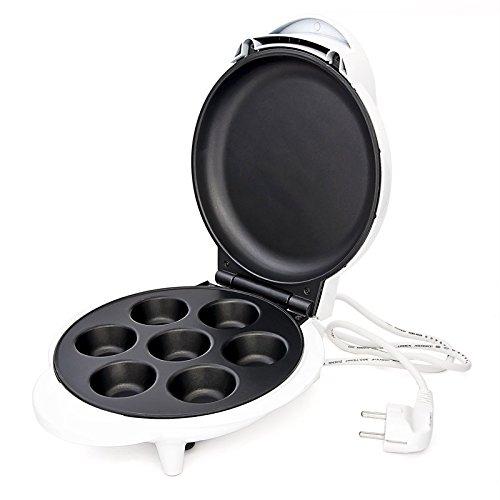 Appareil à cupcake muffins Machine cup-cake Beignet Petits gâteaux Moule cakes avec 7 moules revêtement antiadhésif