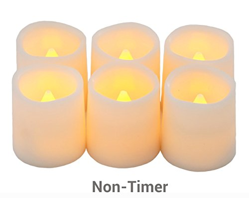 Festival Delights Battery Operated Candles, 1.5x1.75 inch, Set of 6 (Electric Candles Battery Operated compare prices)