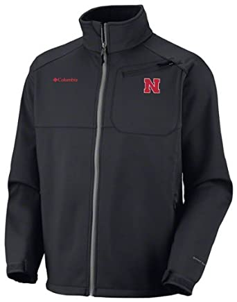 NCAA Columbia Nebraska Cornhuskers Ascender II Softshell Performance Jacket - Black by Columbia