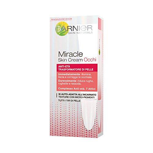 Garnier Miracle Skin Cream Crema Contorno Occhi Anti-Età, 15 ml