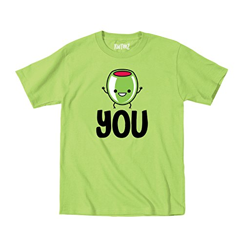 Smiling Olive I Love You Funny Novelty Cute Valentine'S Day - Toddler T-Shirt - Key Lime - 2T