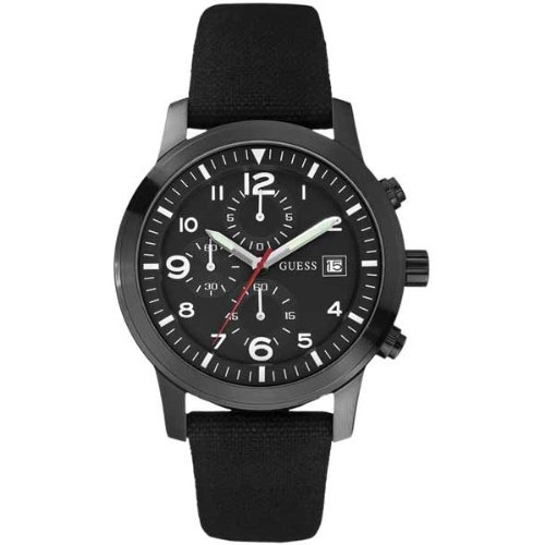 Guess Men's Chronograph Watch W12632G1 with Black Dial