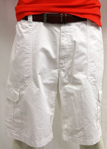 Tommy Hilfiger Mens White Columbia Cargo Short Waist 40