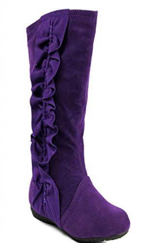 Kali Footwear Girl's Event Jr. Faux Suede Ruffle