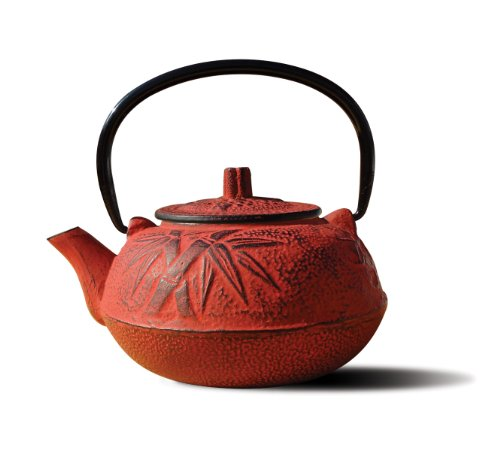 Old Dutch Cast Iron Osaka Teapot, 20-Ounce, Red front-65901