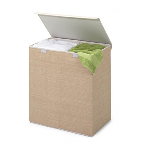 Honey-Can-Do HMP-01367 Two-in-One Double Resin Hamper with Cover, Natural, 2-Bin (Honey Can Do compare prices)