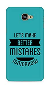 Amez Lets make better Mistakes Tomorrow Back Cover For Samsung Galaxy A9