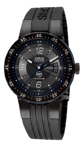 Oris Men's 73576344765RS Williams F1 Team Day Date Black and Grey Dial Watch