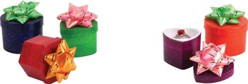 48x Hat Bague Boîtes-Paillettes assorties Couleurs & formes (bd3461)