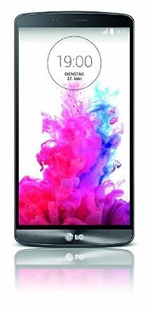 LG G3 Smartphone (14 cm (5,5 Zoll) Quad-HD-IPS-Display, 2.5-GHz-Quad-Core-Prozessor, 13-Megapixel-Kamera, 16 GB Speicher, Android 4.4) - Titanschwarz