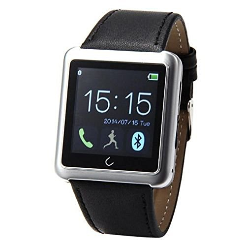 Surpass A+ Smart Watches Bluetooth Watch for Iphone 4 4s 5 5s 5c 6 Plus Samsung Galaxy S5 S4 S3 Note 3 2 Htc One M8 M7 Sony Google Lg (Silver)