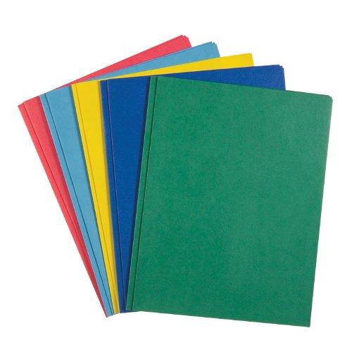 Roaring Spring Embossed 2-Pocket Folders With Prongs. 25