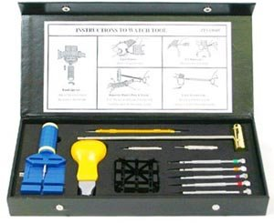 Professional Watch Band Adjust Size Link Pin Removing Repair Tool Kit in Box