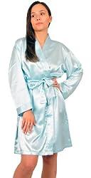 Up2date Fashion Women's Satin Charmeuse Robe