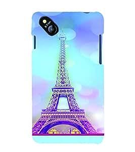 PrintVisa Travel Paris Eifel 3D Hard Polycarbonate Designer Back Case Cover for Micromax Bolt D303
