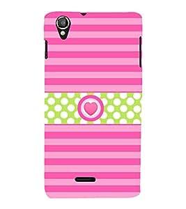 Heart Love Girly Cute Fashion 3D Hard Polycarbonate Designer Back Case Cover for Lava Iris X8