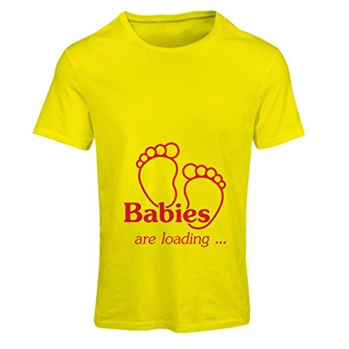 n4232f frauen t shirt babys werden geladen small gelb red. Black Bedroom Furniture Sets. Home Design Ideas
