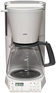 Amazon.com: Braun KF187W FlavorSelect 12-Cup Coffeemaker, White: Drip Coffeemakers: Kitchen & Dining