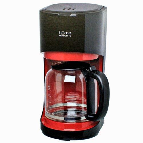 Kaffeemaschine KA8002SW, rot-schwarz, 10 Tassen, 900W, mit Glaskanne, Tropfstopp, Autoabschaltung