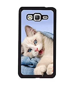 printtech Kitten Cloth Cute Back Case Cover for Samsung Galaxy Grand Prime G530h