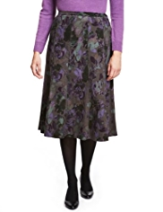 Classic Pure Cotton Abstract Floral Skirt