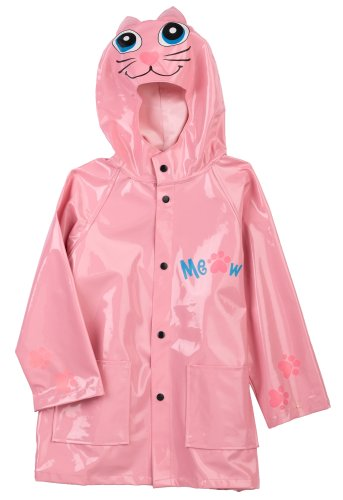 Western Chief Little Girls' Kitty Raincoat,Pink,2 Toddler front-693733