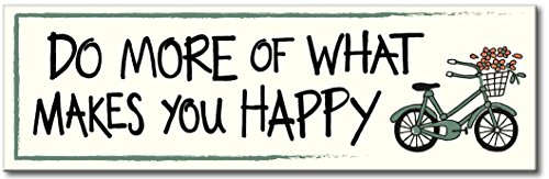 My Word Do More of What Makes You Happy Wood Sign, 5 x 16