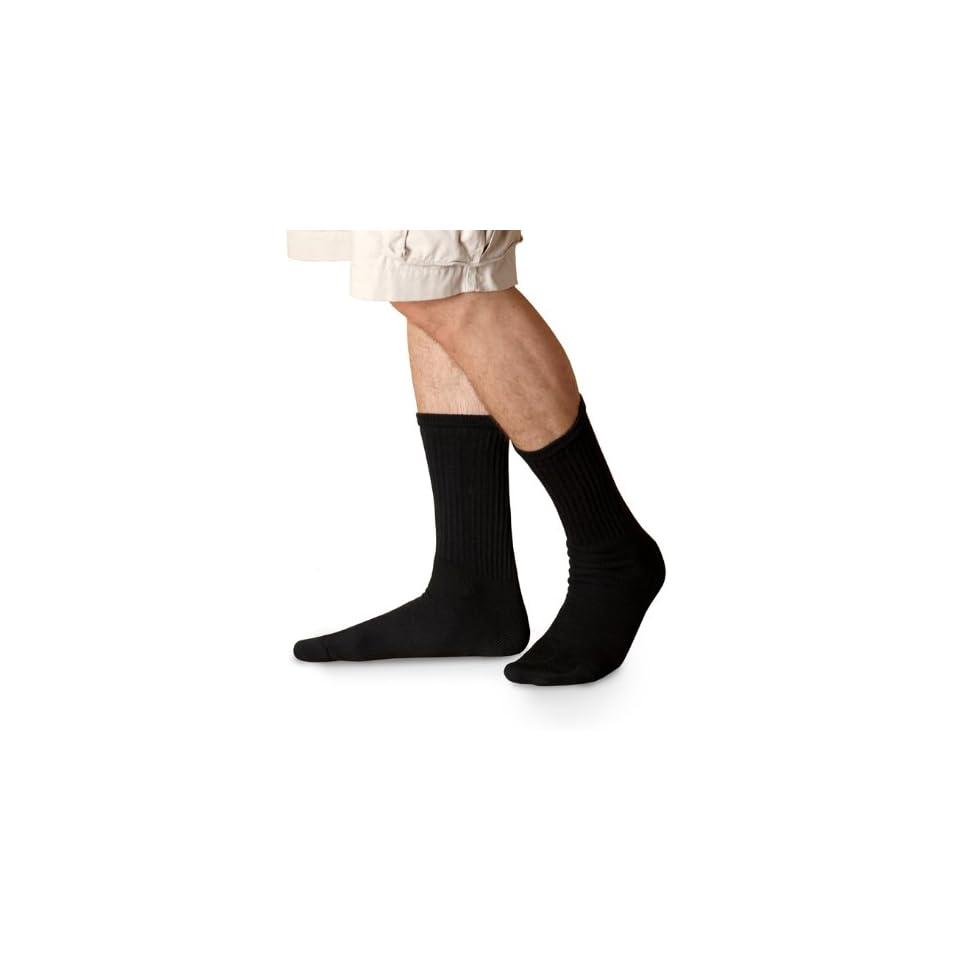 GL751 Gildan Men's Blended Crew Socks 6 Pk   Black   One at  Men's Clothing store