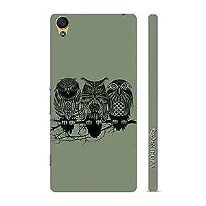 Enthopia Designer Hardshell Case Foul Owl Back Cover for Sony Xperia C6
