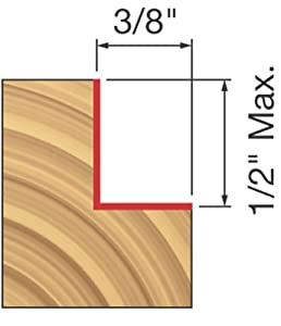 Freud 32-102 1/2-Inch Height Rabbeting Router Bit with 1/2-Inch Shank