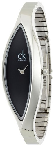 Calvin Klein K2C23102 - Reloj analógico de cuarzo para mujer con correa de acero inoxidable, color plateado