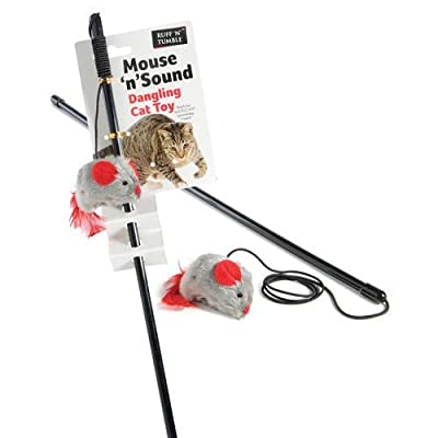 Ruff N Tumble Mouse N Sound Dangling Sound Chip Cat Toy Kitten Interactive Pet